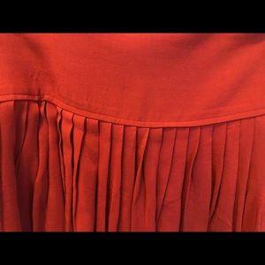 ANN TAYLOR Wine Pleated Skirt  (USED).